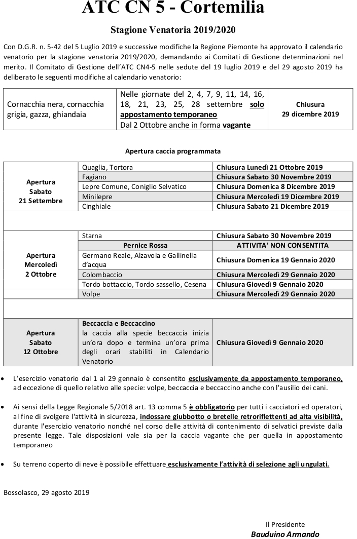 Calendario Alba Tramonto 2020.Atc Cn5 Cortemilia